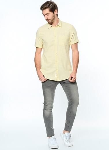 Koton Kısa Kollu Gömlek Sarı